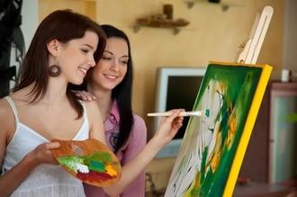Девятый мастер-класс по живописи в клубе «ГОЛОВАСТИК»